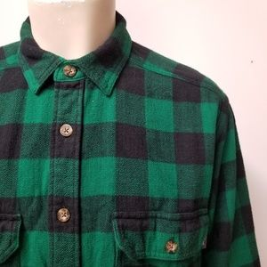 WOOLRICH Buffalo Plaid Flannel Shirt Elbow Patches